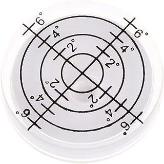 HELYZQ Nível de bolha de 32 x 7 mm da superfície marcada para câmera circular
