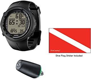 SUUNTO DX Black Elastomer with USB & Suunto Wireless Tank Pressure Transmitter Led
