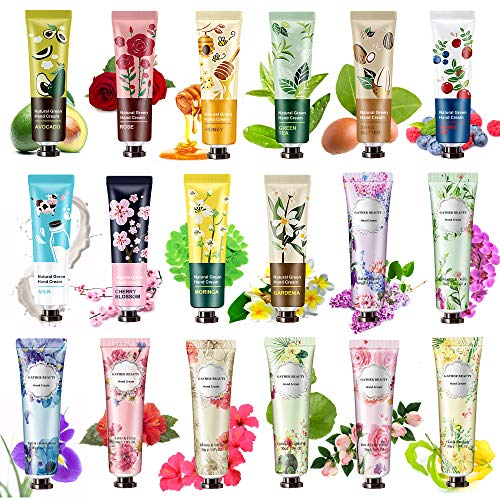 18 Pack Hand Cream for Dry Cracked Hands,Working Hands, Natural Plant Fragrance Hand Lition Moisturizing Hand Care Cream Gift Set Travel Size Hand Lotion With Natural Shea Butter And Aloe