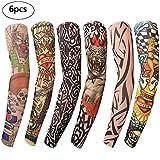 Benbilry 6 Stück Tattoo Ärmel Tattoo Armstrumpf Tatoo Armstrümpfe Arm Tattoo Strumpf Unisex Nylon...