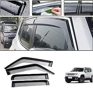 2x Deflettori DAria per Fiat Doblo Work Up Pratici Opel Combo dal 2010 in Poi In-Channel Antiturbo Per Auto Vetro Acrilico Anti Vento Guardia di Pioggia Sole Neve