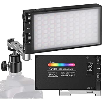 ANDYCINE Portable Boling BL-P1 RGB Video Light 2500k-8500k Pocket Size Vlogger on Camera Light with 9 Applicable Situation 360/° Adjustable Support System with Built in Battery