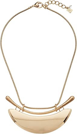 Robert Lee Morris - Gold Wide Plaque Frontal Necklace