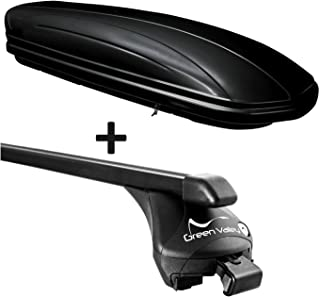 F25 Dachbox VDPCA320 320Ltr carbonlook Relingtr/äger Quick Alu kompatibel mit BMW X3 ab 2011 aufliegende Reling