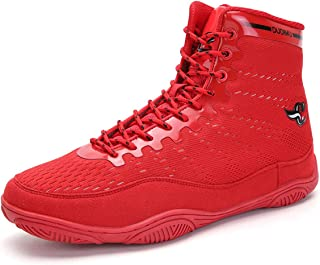 Boy's Boxing Shoes, Boxers Trainers Breathable Mesh Wrestling Shoe Non-Slip Climbing Boots