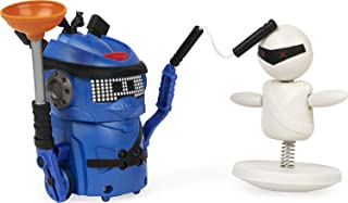 Ninja Bots 1-Pack, Hilarious Battling Robot (Blue) with 3 Weapons, Trainer and Over 100 Sounds and Movements