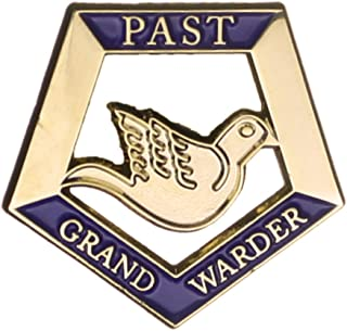 Hattricks Goodimpression OES Order of the Eastern Star Past Grand Warder One Inch Jewel Lapel Pin