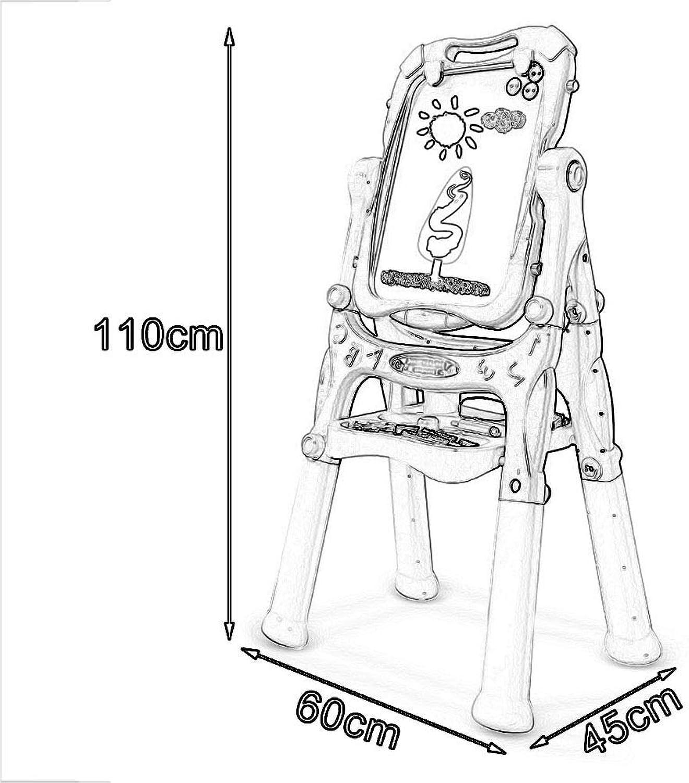 alta calidad XQY XQY XQY Estante para dibujo de madera, caballete de fácil uso Base de pintura de graffiti magnética a doble Cochea para Niños Tipo de soporte de caballete para el hogar Soporte para dibujo de bebé  mejor servicio