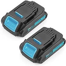 2 Pack DCB207 20 Volt 2500mAh Lithium Replace for Dewalt 20V Battery XRP DCB200 DCB201 DCB203 DCB204 DCB205 Batteries