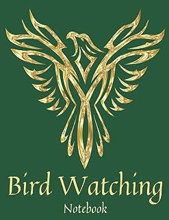 Green & Gold Bird Watching Notebook: Bird Watcher Gifts - Paperback Journal to write in