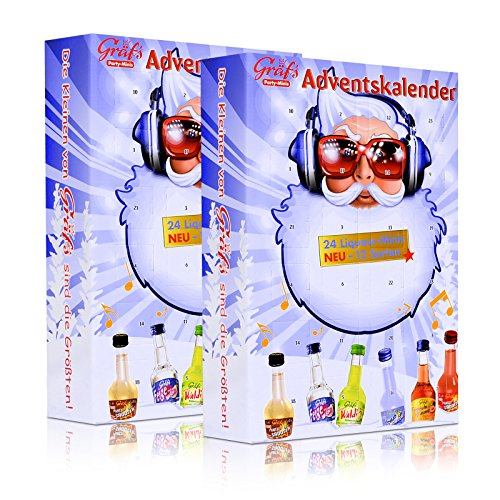 2x Gräfs Party-Minis Adventskalender 24 Liqueur-Minis 15-25% vol