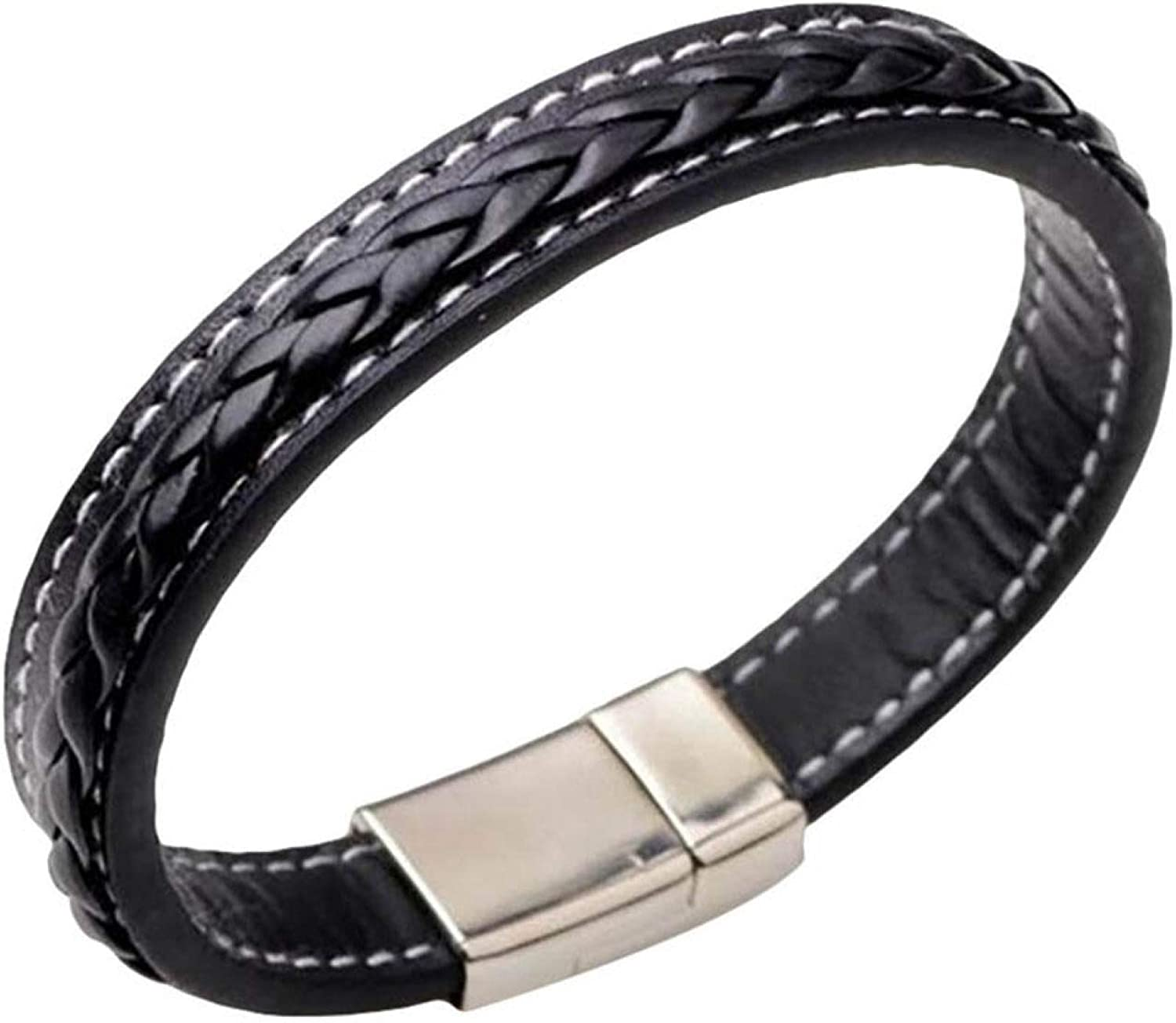 Fashion Solid Color Braided Magnetic Super Special SALE held Max 79% OFF Bracelet Buckle Clasp Cuff