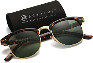 AEVOGUE Polarized Sunglasses Semi-Rimless Frame Brand...