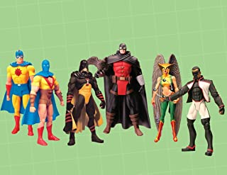 DC Direct JSA Series 1 Complete Set of 6 Action Figures Dr. Mid-Nite, Hourman, Golden Age Atom (2-pack), Hawkgirl and Mr. Terrific