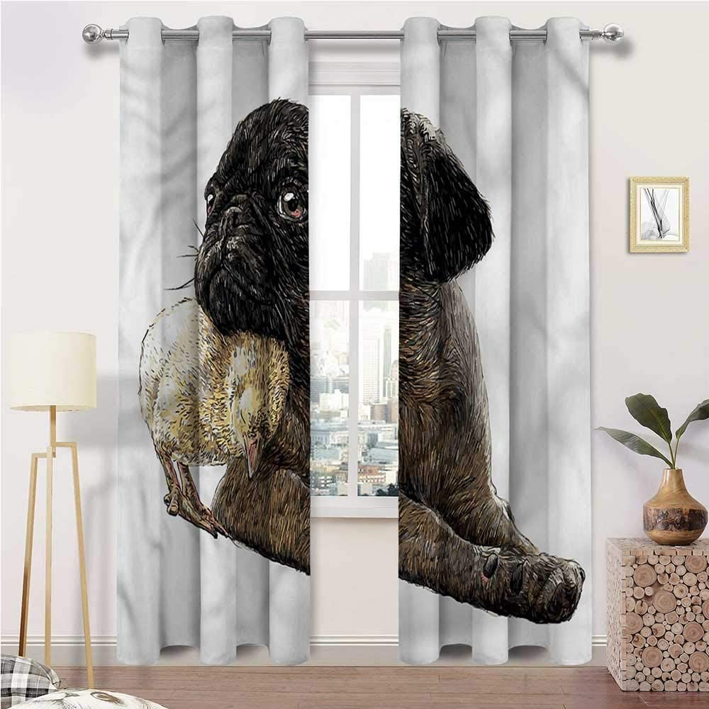 Interestlee Patio Curtains Popular products Pug Energy Cool New product type Saving Grom Room The