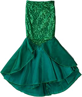 Toddler Girls Sequins Little Mermaid Tail Costume Fish Tail Halloween Outfits Girls Princess Clothes Halloween