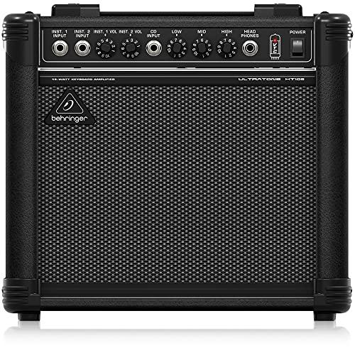 Behringer Ultratone KT108 Ultra-Compact 15-Watt Keyboard Amplifier,Black
