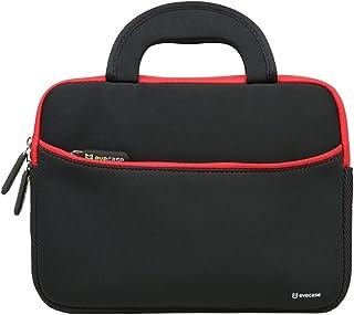 evecase étui en néoprène avec poignée (265x200x20mm) – Noir et Rouge pour..