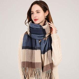 JTYX SCARVES Women Scarf 100% Imitation Wool Shawl Winter Warm Plaid Scarf with Tassels