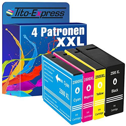 Tito-Express PlatinumSerie 4X Patronen XXL passend zu Canon PGI2500 XL | Für Canon Maxify iB-4050 iB-4150 MB-5050 MB-5150 MB-5155 MB-5350 MB-5450 MB-5455