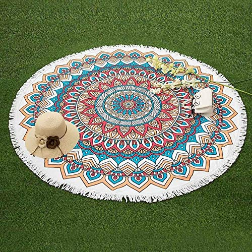 sxh2818517 Toalla de Playa Redonda Toalla de Ducha de Microfibra con Estampado de donas geométrica Toalla de baño de Bohemia Redonda