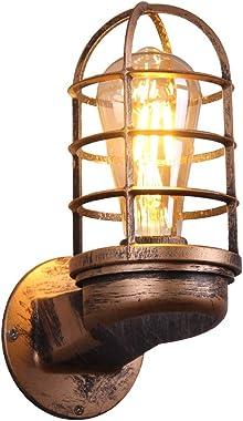 KAYIMAN Applique Murale Rétro Éclairage Industriel Vintage Appliques Rustiques Fil Cage En Métal Applique Murale Intérieur Ma