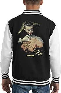 Hammer Dracula Dont Dare See It Alone Poster Kid's Varsity Jacket