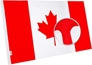 rhungift Canada Flag 3x5Ft,Embroidered Maple Leaf Longest Lasting Oxford Nylon 210D- Canadian Flag, Featues Quadruple Stitched Fly Ends| Brass Grommets for Easy Display Canada Brand Ca Flags