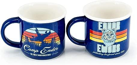 Star Wars Camp Endor Retro Style Mugs | Ewok Forest Camp of Endor Cups | Set of 2 Ceramic Mugs