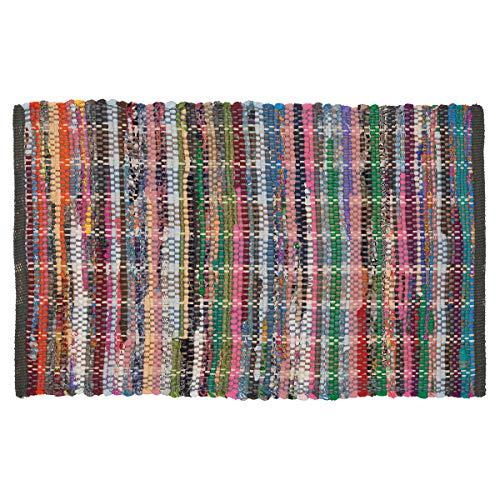 Sealskin Madras Alfombra de baño, Algodón, Multicolor, 60x90 cm