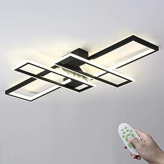 LED Deckenlampe,Groß Lampe Deckenleuchte,Moderne Wohnzimmerlampe,Dimmbar Mit Fernbedienung Deckenbeleuchtung für Wohnzimme...