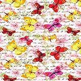 Fabulous Fabrics Sweatshirt Stoff Schmetterling Poesie –
