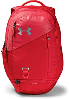 UA Hustle 4.0 - Mochila impermeable para portátil Rojo Rojo/Rojo/Plateado Talla única