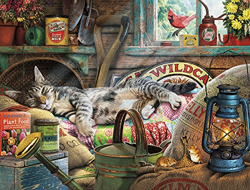 Buffalo Games - Cats Collection - Laid-Back Tom - 750 Piece Jigsaw Puzzle Black,orange,yellow, 24