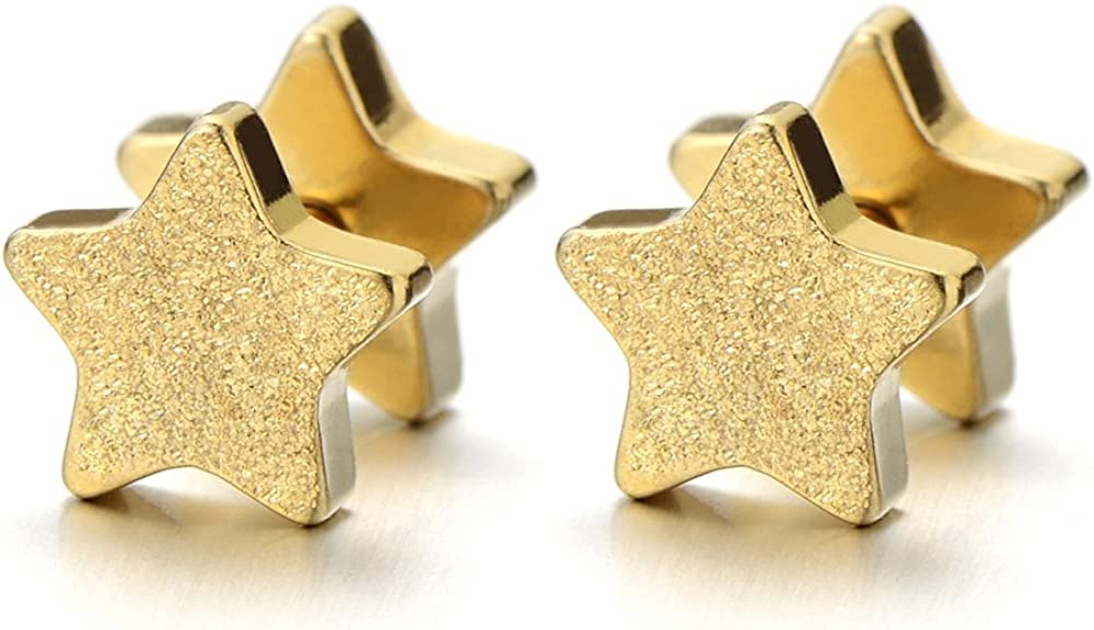 2pcs Clearance SALE! Limited time! Gold Star Screw Stud Earrings ...