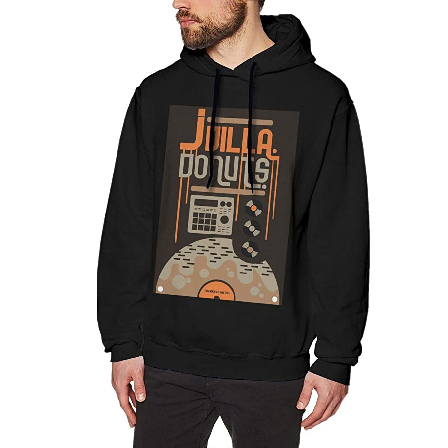 CHUNT J Dilla Donuts Men's Hooded Sweatshirt Black