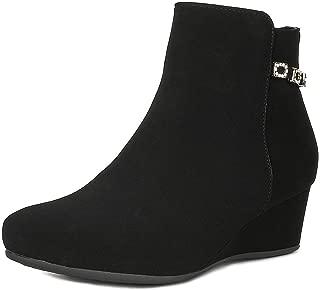 DREAM PAIRS Women's Ramona Wedge Heel Ankle Boots