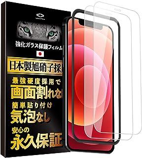 Less is More iPhone12 iPhone12 Pro 用 ガラスフィルム (フルカバー) 【ガイド枠付き】 (2枚セット) 全面保護フィルム 日本旭強化ガラス TM-9010