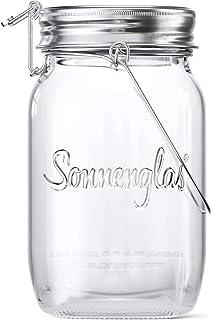 SONNENGLAS® Originale, Lanterna solare LED in Barattolo da Conserva, lampada da tavolo (con USB), Commercio equo e solidal...