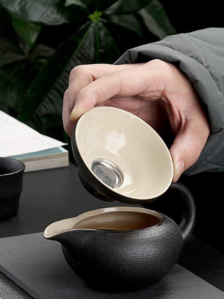 Gzjdtkj Thee set Zwart servies keramische theepot waterkokers thee kopjes porselein thee set drinkware (Kleur: Style J) Stijl F