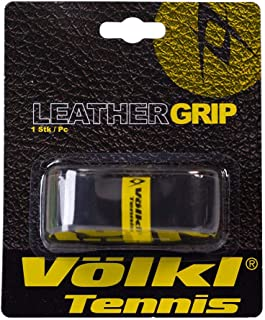 Volkl-Leather Replacement Tennis Grip Black-(888971026003)