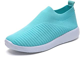SKLT Shoes Woman Sneakers Knitted Mesh Breathable Comfort Slip-On Casual Shoes Women Ladies Shoes Tenis Feminino