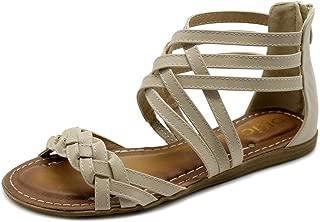Women's Shoe Gladiator Strappy Zip Closure Multi Color Sandal