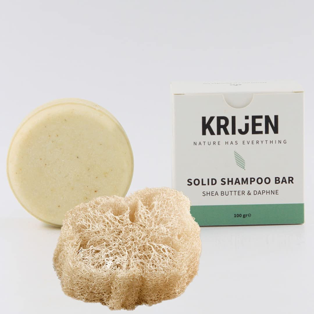 KRIJEN Shampoo Bar – Frizzy Challenge the Dealing full price reduction lowest price Shea Hair Damaged