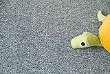 Steffensmeier Teppichboden Meddon Meterware | Auslegware für Kinderzimmer Wohnzimmer Schlafzimmer | Grau, Größe: 400x400 cm