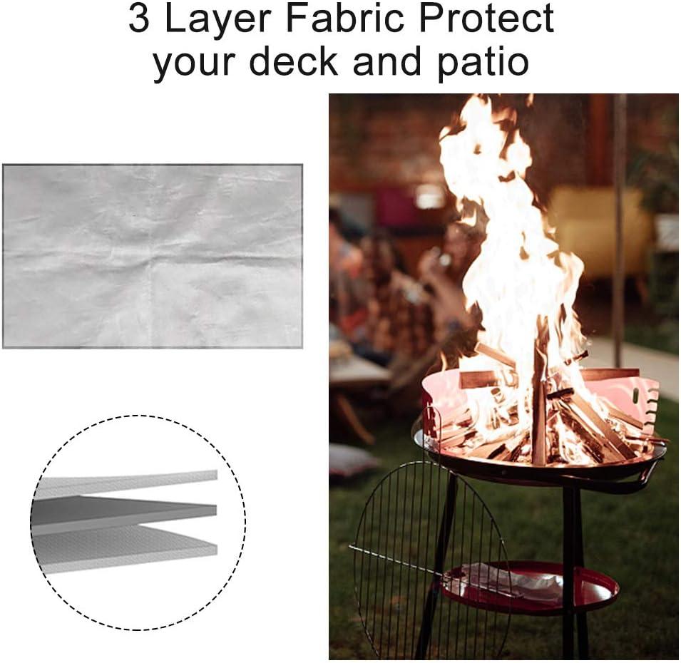 CALIDAKA Fire Pit Mat,Deck Fireproof Cloth Mat,Fire Pit Pad,Grill ...