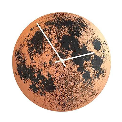Blancho Bedding Mur Acrylique Moderne Horloge Lune Motif Horloge Murale sans Cadre Home Decor 12\