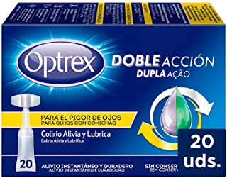 Optrex Colirio Monodosis Doble Acción para Picor de Ojos -