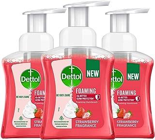 Dettol Strawberry Foaming Handwash Pump, 250ml, Pack of 3