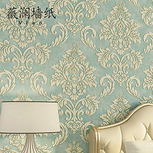 European wallpaper non-woven wallpaper living room bedroom TV background wallpaper 3d thick embossed wallpaper AB with@Free collar sample (free shipping), while stocks last_Wallpaper only